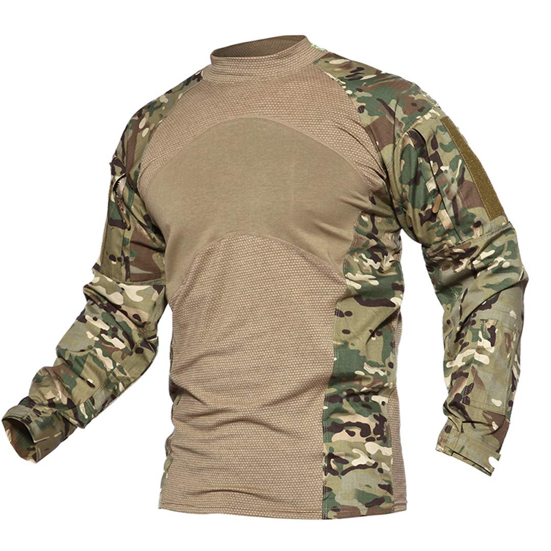 Men Summer Tactical T-Shirt Army Navy Combat Airsoft Tops Long Sleeve Military Tshirt