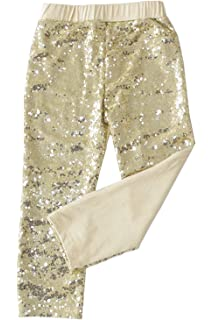 iiniim Kids Girls Sequins Leggings Pants Baby Children Boys Shiny Birthday Party Fancy Dance Clothes