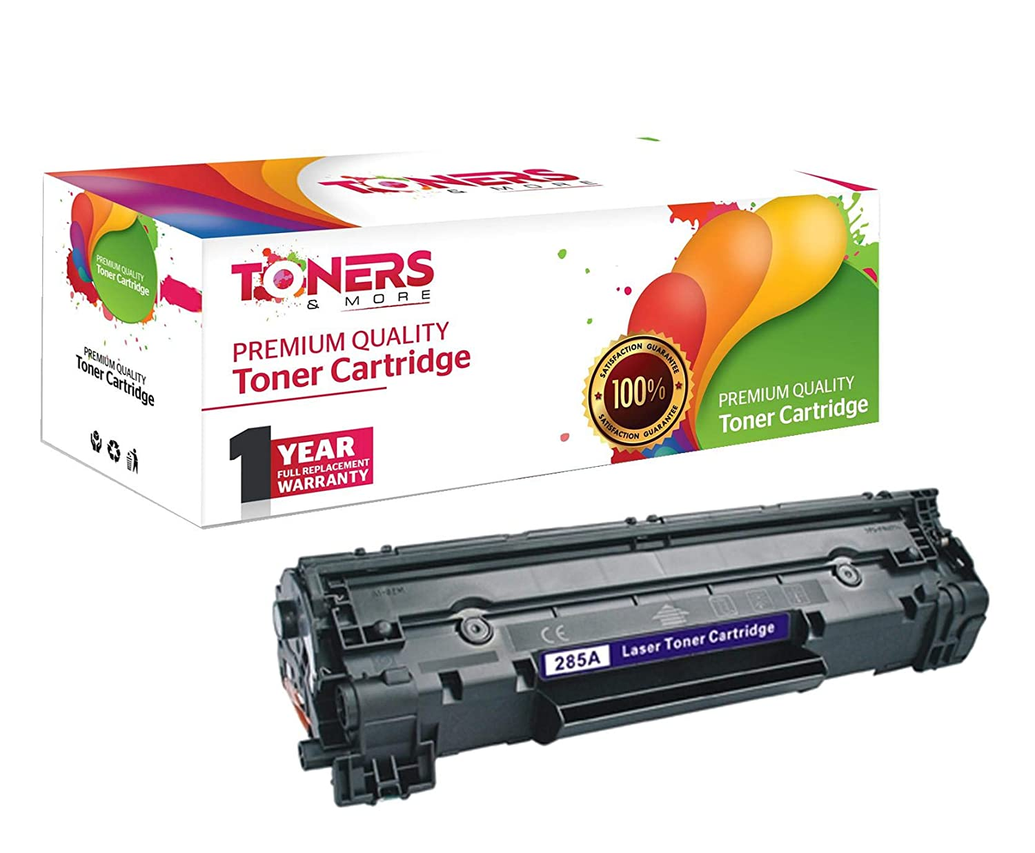 Toners & More ® Compatible Laser Toner Cartridge for Hewlett Packard HP CE285A 85A 285A Works with HP LaserJet M1132, P1102, P1102W, Pro M1210, Pro M1212nf, Pro M1217nfw MFP - 1,600 Page Yield 6852665