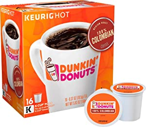 Dunkin' Donuts 100% Colombian Coffee Keurig K-Cup Pods (16 Count)