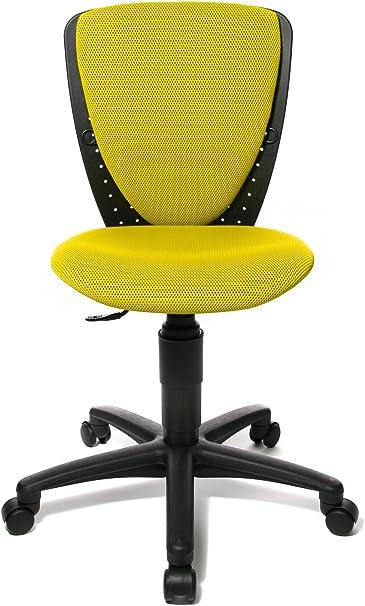Schreibtischstuhl Kinder Jugend Drehstuhl BLAU//GELB Stoff Stuhl Bürostuhl SMILEY