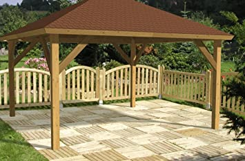 Großartig Amazon.de: 4-Eck Holz Pavillon Andy 429x429 cm TQ03