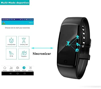 Willful Impermeable Pulsera Inteligente Pulsera Actividad con Pulsometros,Monitor de Dormir,Monitor de Calorías,Podómetro,Notificación de ...