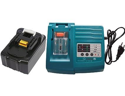 YASI MFG® Cargador y batería para Makita BL1830, BL1840 ...