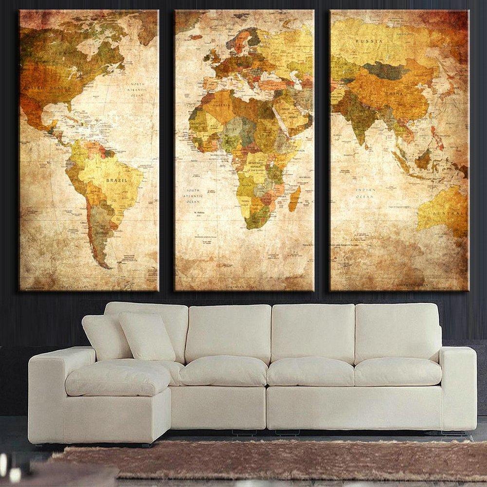 Impresión sobre lienzo, 135 x 90 cm - grande - 3 colores ...