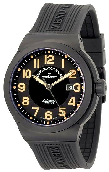 Zeno-Watch Reloj Mujer - Raid Titan Automática black&orange - 6454-bk-a15