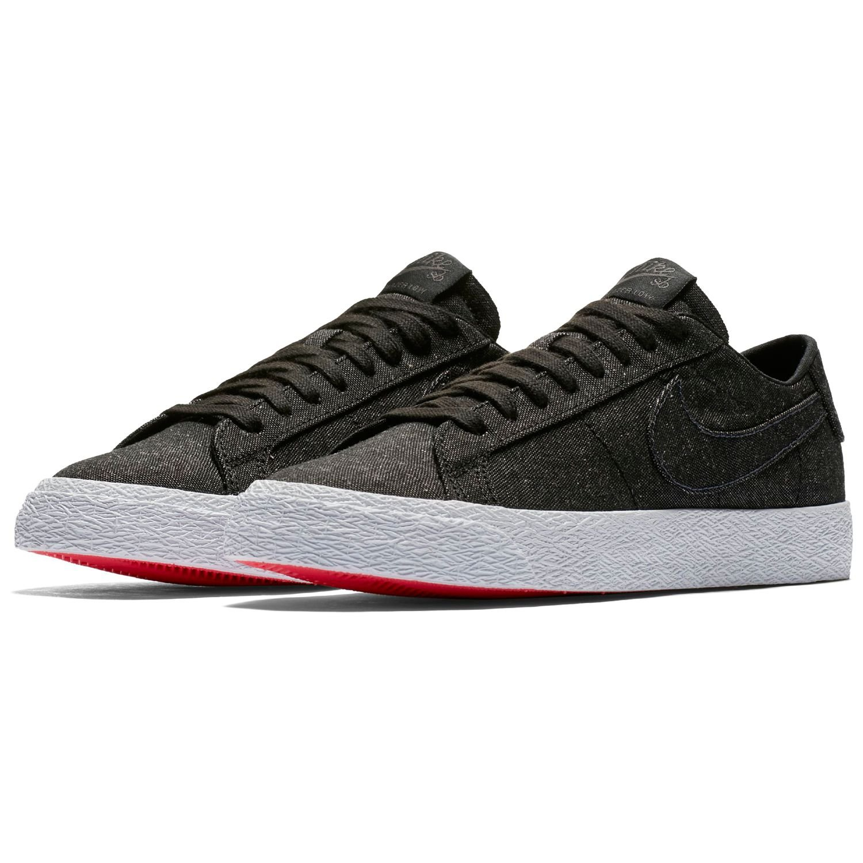 NIKE SB Mens Air Zoom Blazer Low Skateboarding Shoe Black/Black-Anthracite (8.5)