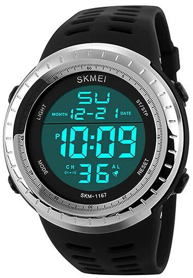 carlien Hombres LED Digital Militar reloj Fashion Sports relojes buceo nadar al aire libre Casual relojes de pulsera: skmei: Amazon.es: Relojes