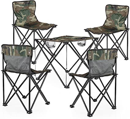 TangMengYun Mesa de Camping Plegable al Aire Libre y sillas ...
