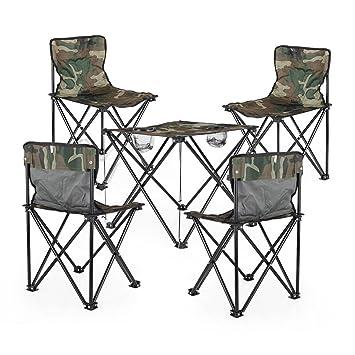 TangMengYun Mesa de Camping Plegable al Aire Libre y sillas de Mesa ...