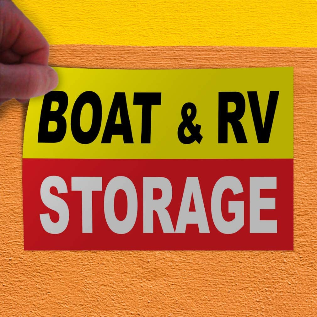 Decal Sticker Multiple Sizes Boat /& Rv Storage Business Style U Business Boat Outdoor Store Sign Yellow Set of 10 14inx10in