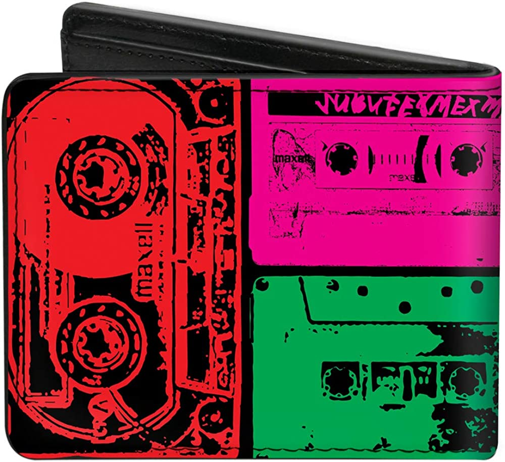 Bi-Fold Wallet Tapes Multi Neon