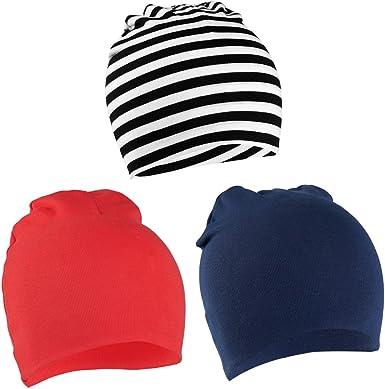 VBIGER Niños Sombrero Gorros 100% Algodón Beanie Hat Primavera otoño 3 Piezas, uno - Tres años: Amazon.es: Ropa y accesorios