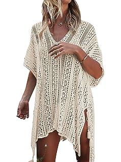 ddc88fa791 NFASHIONSO Women's Fashion Swimwear Crochet Tunic Cover Up/Beach ...