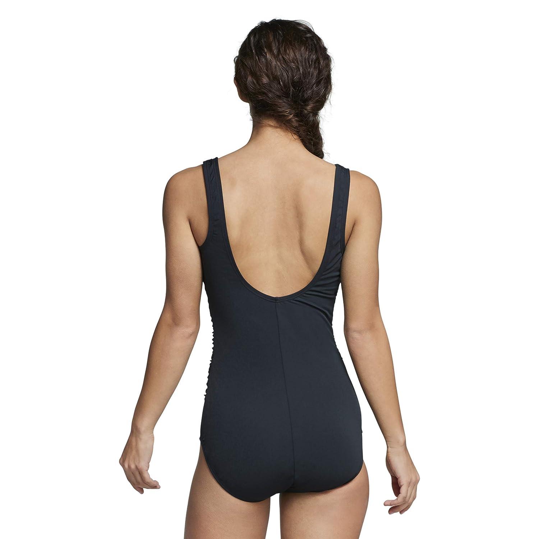 Speedo Womens Endurance Side Shirred Tank Tummy Control One Piece Swimsuit