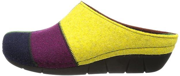 Berkemann Klarissa 01324-018, Damen Pantoffeln, Mehrfarbig (lemon/Patch 018), EU 39.5 (UK 6)