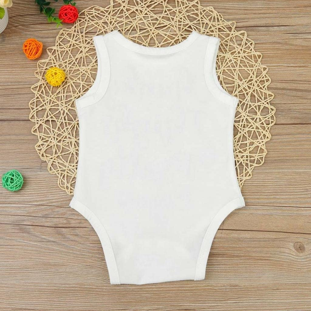 Baby Clothes,Efaster Newborn Girl Boy Sleeveless Letters Romper Jumpsuit Outfits