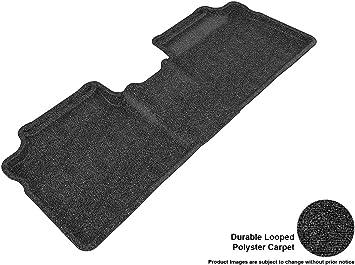 3D MAXpider Second Row Custom Fit Floor Mat for Select Toyota Prius Models Classic Carpet Black