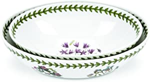 Portmeirion Botanic Garden Oval Nesting Bowls, Set of 2