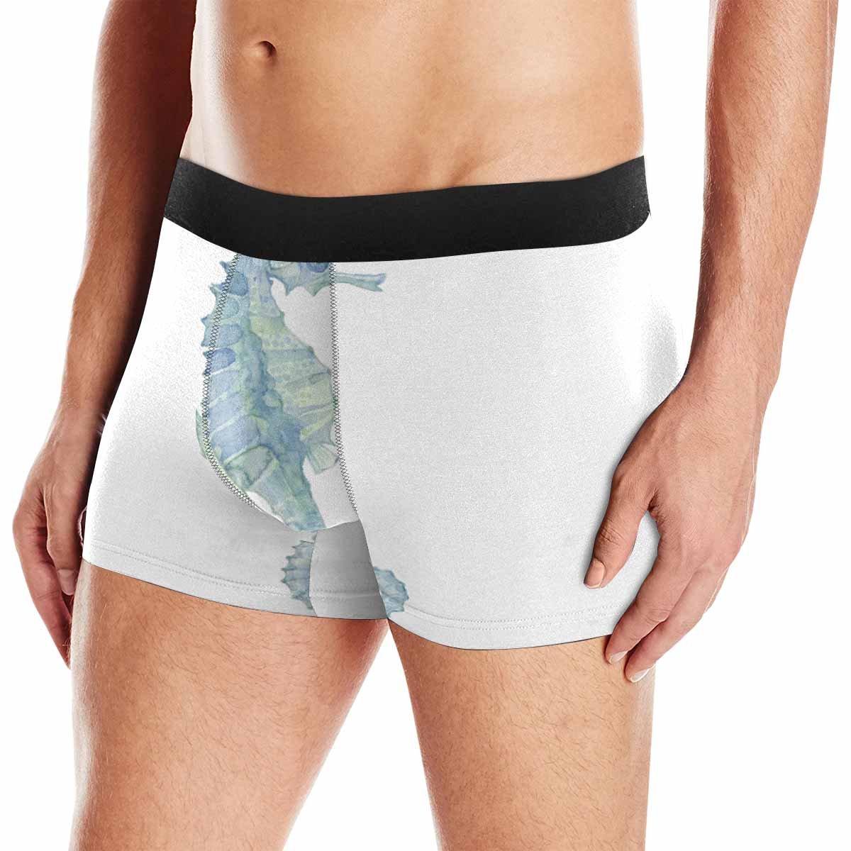 INTERESTPRINT Boxer Briefs Mens Underwear Sea Horse XS-3XL