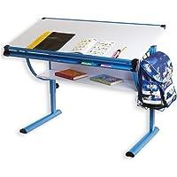 IDIMEX Blue Höhenverstellbarer Kinderschreibtisch Metall blau 113,5 x 60 x 72 cm
