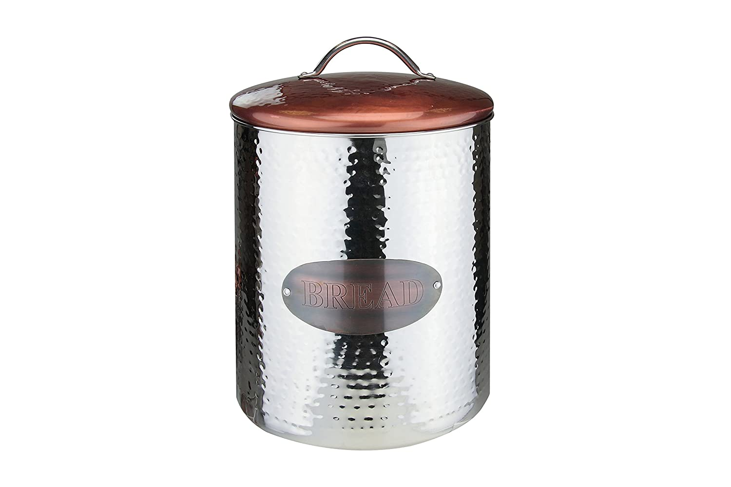 Apollo Bread Canister, Stainless Steel, Copper/Silver 4072