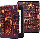 Capa para Kindle 10a geração (aparelho com iluminação embutida) - rígida - sistema de hibernação - Livraria