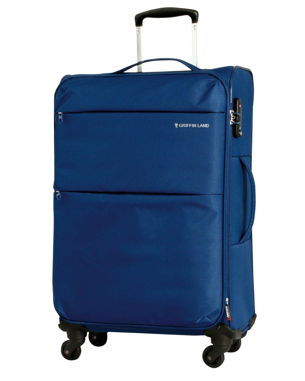 [グリフィンランド]_Griffinland TSAロック搭載 スーツケース ソフトタイプ  超軽量 AIR6327(solite) ファスナー開閉式 S型国内国際線機内持込可 5色3サイズ B01H50VAW4 S(小)型|ネイビー ネイビー S(小)型