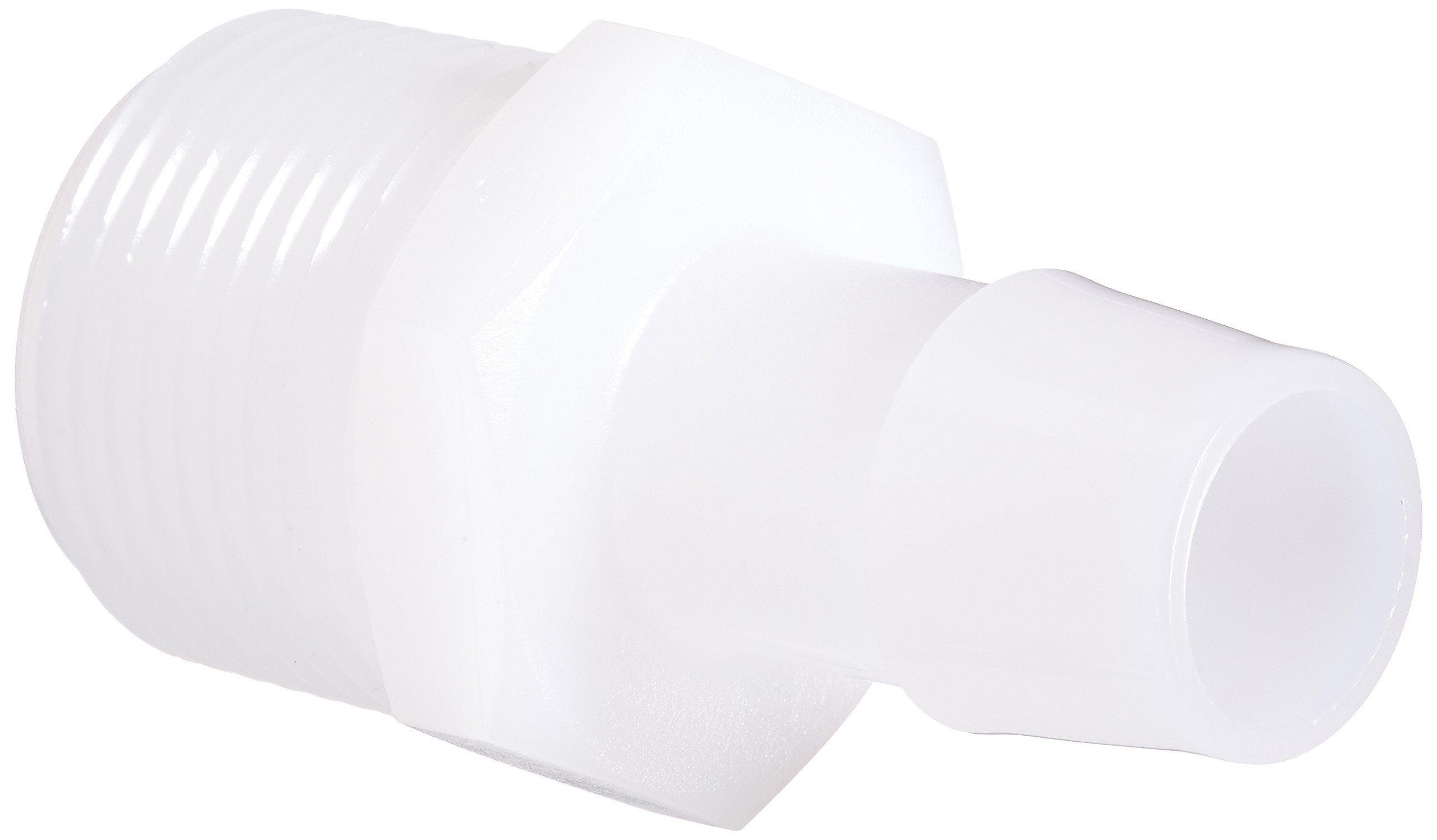 Eldon James A12-10HDPE High Density Polyethylene Adapter Fitting, 3/4-14 NPT to 5/8'' Hose Barb (Pack of 10) by Eldon James