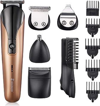 Recortadora Para Barba 6 En 1 Cortapelos USB Recargable Cortador Pelo Barberos Recortador de Pelo de Nariz Orejas Depiladora Corporal: Amazon.es: Salud y cuidado personal