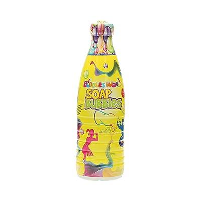 Botella de 1 litro, líquido de jabón para hacer pompas, Megaburbujas, GIGANTE BURBUJAS: Juguetes y juegos