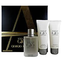 Armani Acqua Di Gio Pour Homme Perfume Gift Set, includes Acqua Di Gio Eau De Toilette Pour Homme 50 ml  , Acqua Di Gio All Over Body Shampoo 75ml, Acqua Di Gio After Shave Balm 75ml.