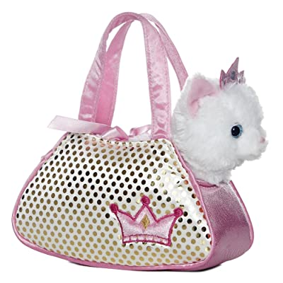 "Aurora World Aurora - Pet Carrier - 7"" Princess Kitty Pet Carrier, 32602, Multicolor: Toys & Games"