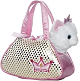 Aurora World Fancy Pals Plush Princess Kitty Pet Carrier Purse