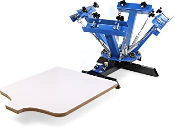 Maxwolf 4 Color 1 Station Silk Screen Printing Machine