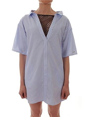 Femme Gaelle Bleu Claire Gbd3841 Paris Robe Polyester IeDHYbEW29