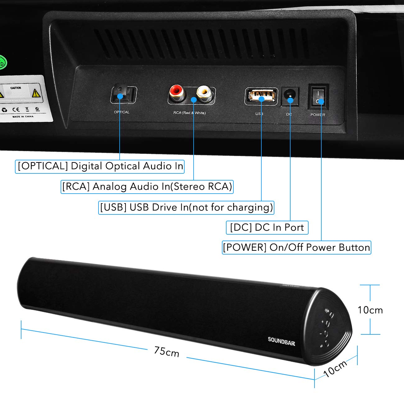 ... Audio (4 Speakers,2 Bass Reflex Tubes, Bass and Treble Adjustable, Dual  Connection Methods, Wall Mountable BT Speakers,Upgraded Version):  Electronics