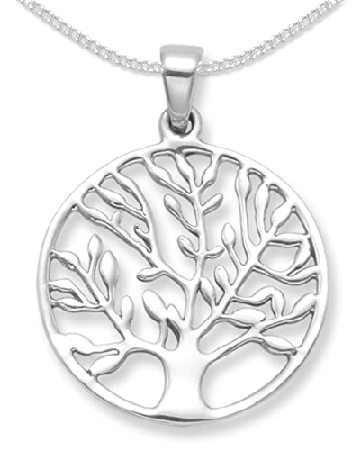 Sterling silver tree of life yggdrasil pendant on silver chain sterling silver tree of life yggdrasil pendant on silver chain size 25mm tree mozeypictures Gallery