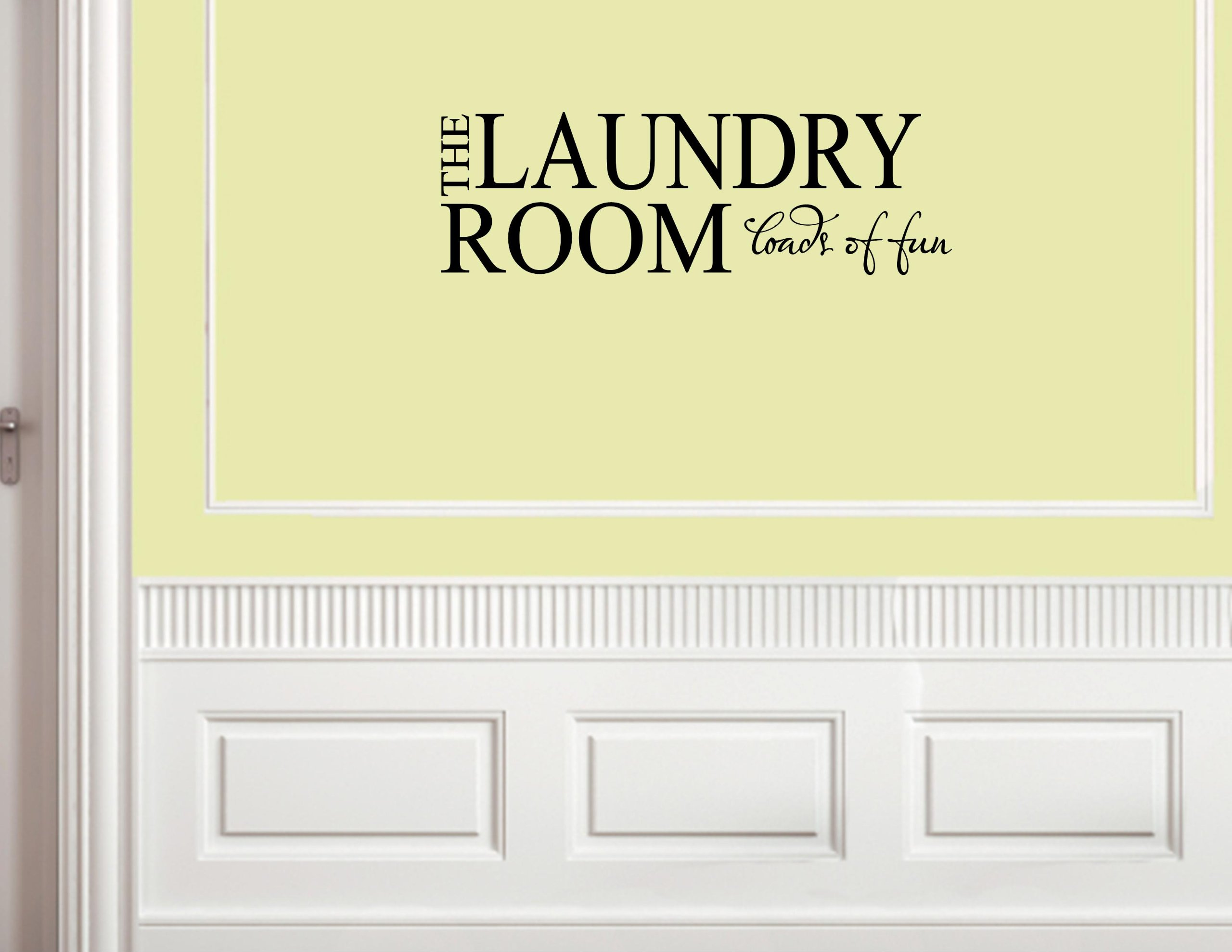 THE LAUNDRY ROOM LOADS OF FUN Vinyl wall lettering stickers quotes ...