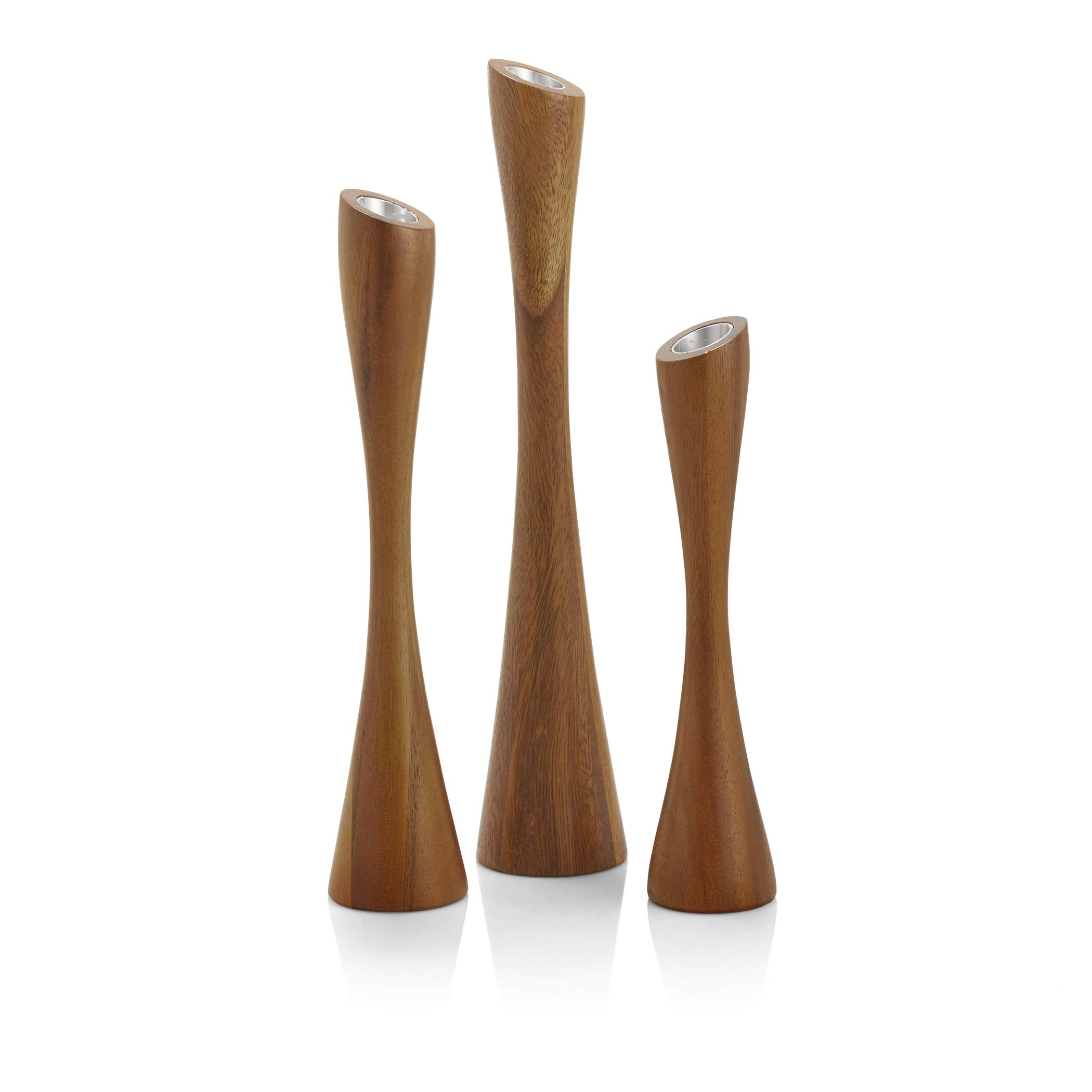 Nambe Gift Collection Grove Candlesticks - Set of 3