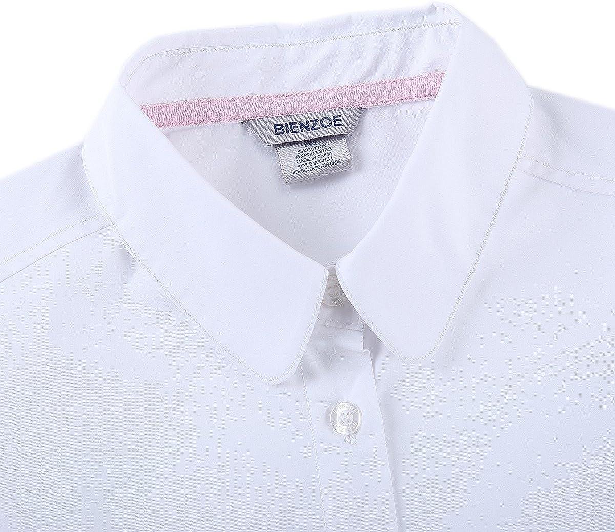 Bienzoe M/ädchen Schuluniformen Oxford Blusen Krawatte Satz