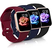 Sport Band Compatible with Apple Watch iWatch Bands 38mm 40mm 42mm 44mm,Soft Silicone Strap Wristbands for Apple Watch…