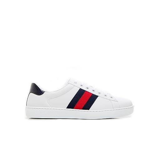 Gucci Sneakers Uomo 386750A38D09072 Pelle Bianco  Amazon.it  Scarpe e borse 4850d0f8fa3