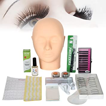 3a7d5ef691c All in 1 Practice Mannequin Head for Makeup Training and Eyelash Extension  Set, Yevita Professional