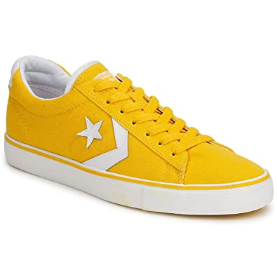 7c23be61a3dc CONVERSE mens PRO LEATHER CANVAS OX Yellow Low top trainers 5.5 ...