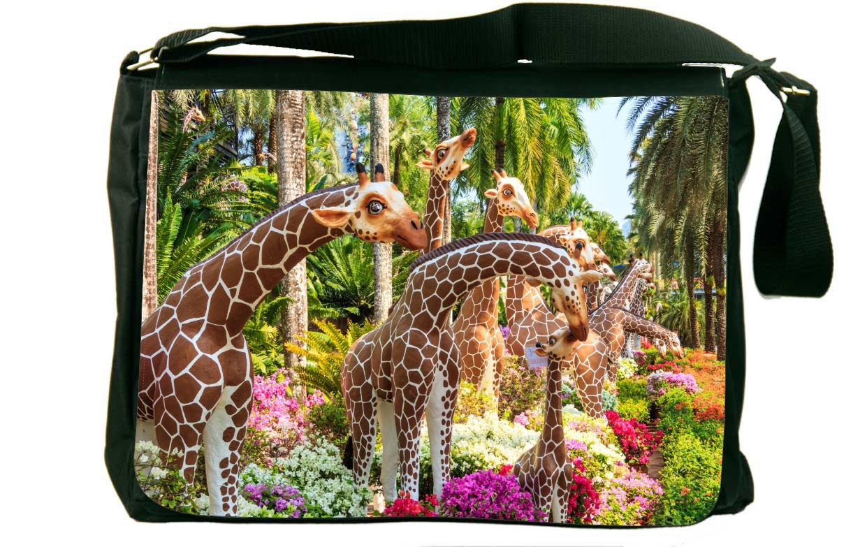 Rikki Knight Giraffe Statue Messenger Bag School Bag