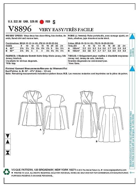 Vogue V8896 Vge B5 8 10 12 14 16 Schnittmuster Zum Nahen