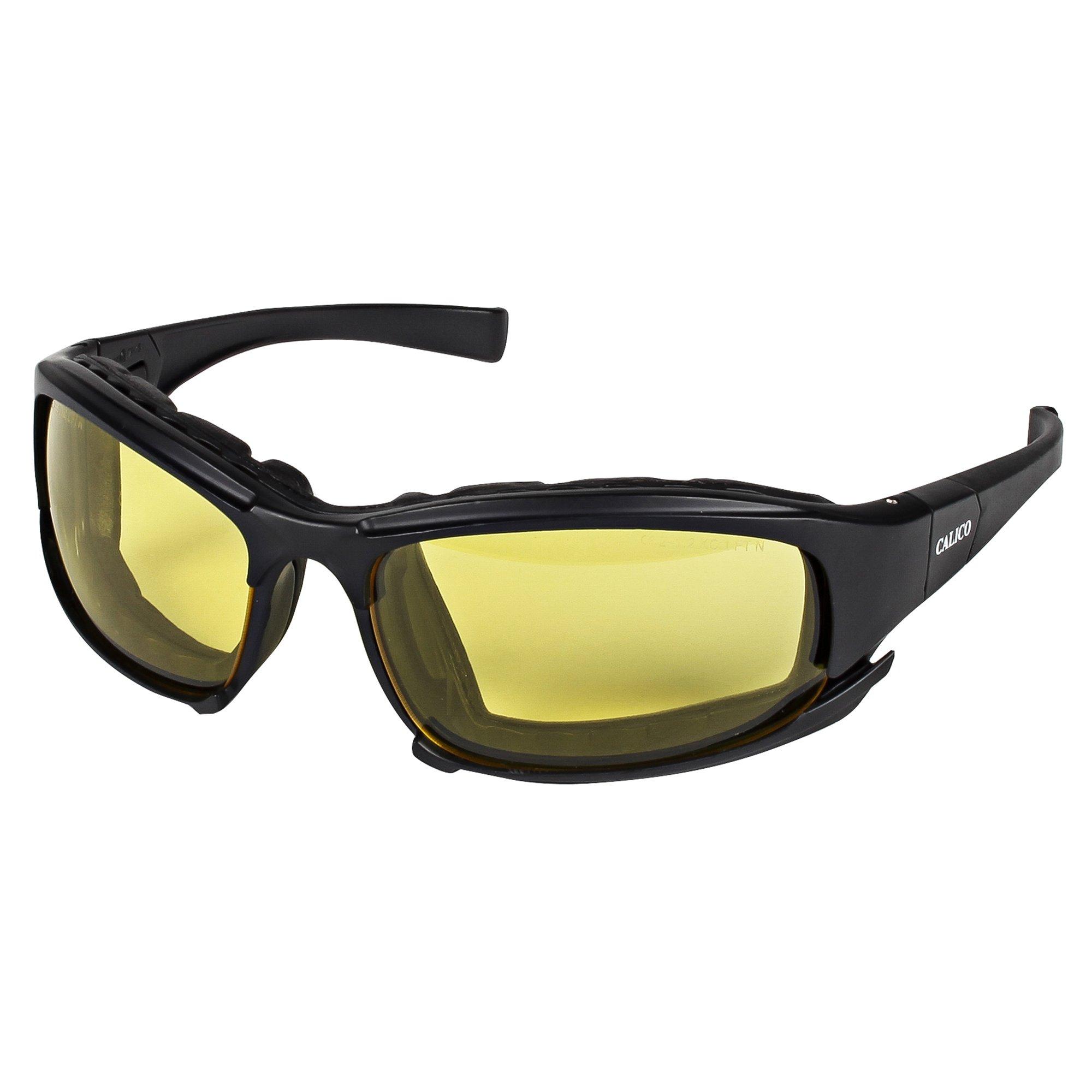 Jackson Safety Calico Safety Eyewear V50 (25674), Amber Anti-Fog Lens, Interchangeable Temple / Head Strap