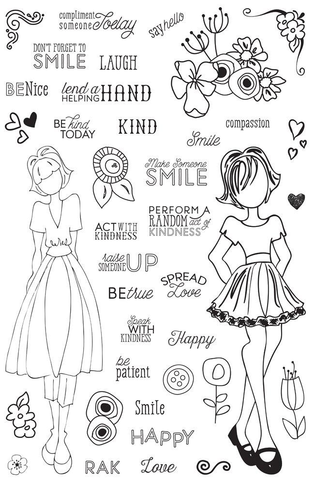 Prima Marketing 655350911690 Julie Nutting Planner Clear Stamps-Make Kindness Happen Prima Marketing Inc ca home PS3ZQ