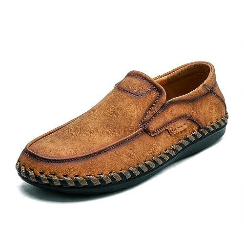 LANSEYAOJI Loafers Hombre Mocasines Moda Zapatos de Conducción Suave Zapatos de Cuero Zapatos Casuales Ligeros Calzado Plano Cómodos Zapatos para Caminar ...